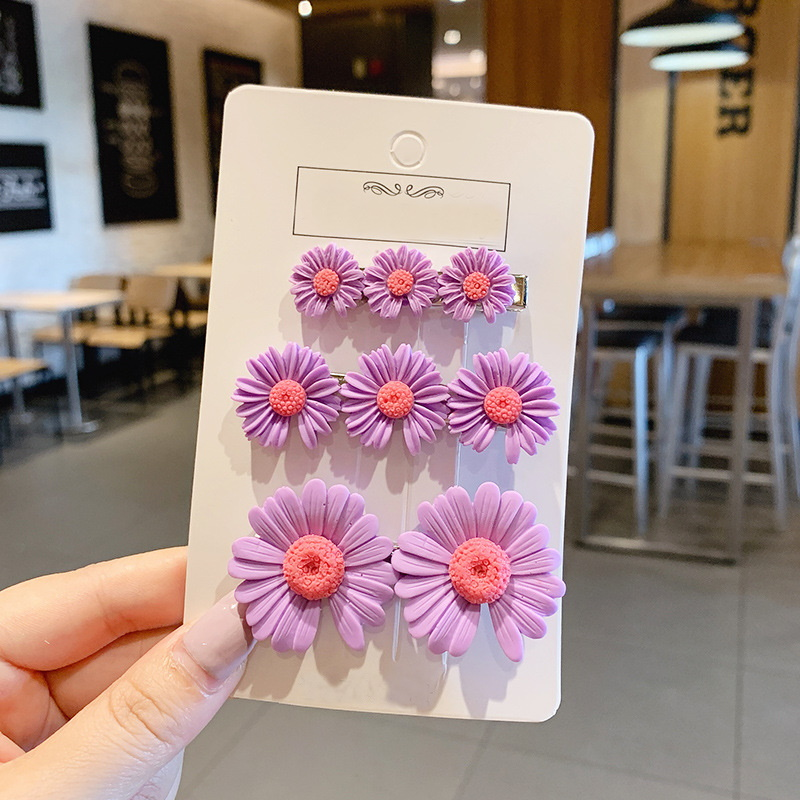 Multi-Sized Flower Hair Clip Set (3 Pieces/Set)