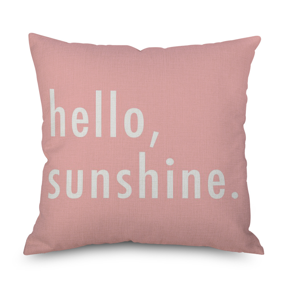Aesthetic Pink Pillow Cover Typical Use for Modern House Motif