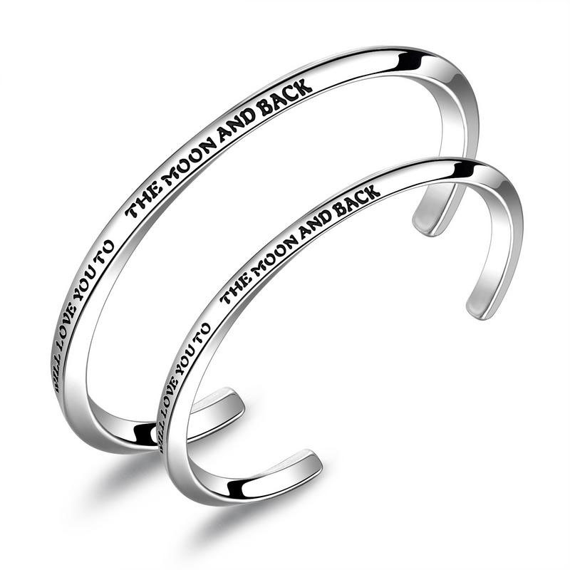 Love to the Moon and Back Matching Bangles