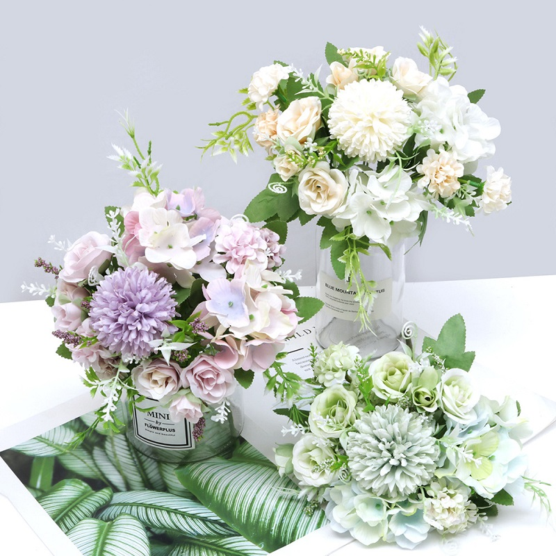 Mixed Artificial Flowers Home Decor