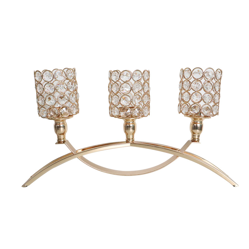 Fabulous Metal and Crystal Candle Holder for Avoiding Burning Your Tablecloth