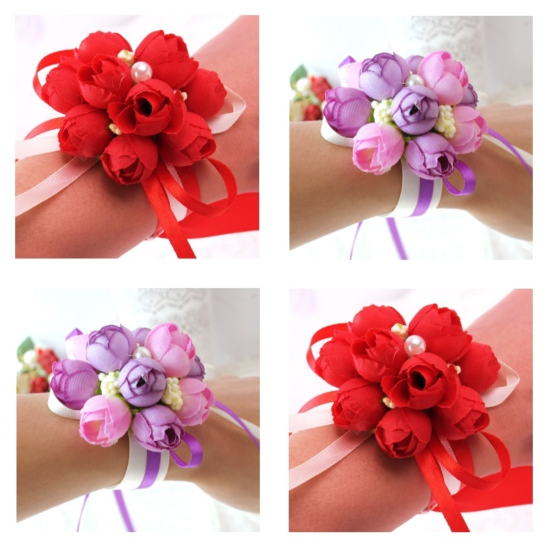 Faux Tulip Buds Corsage