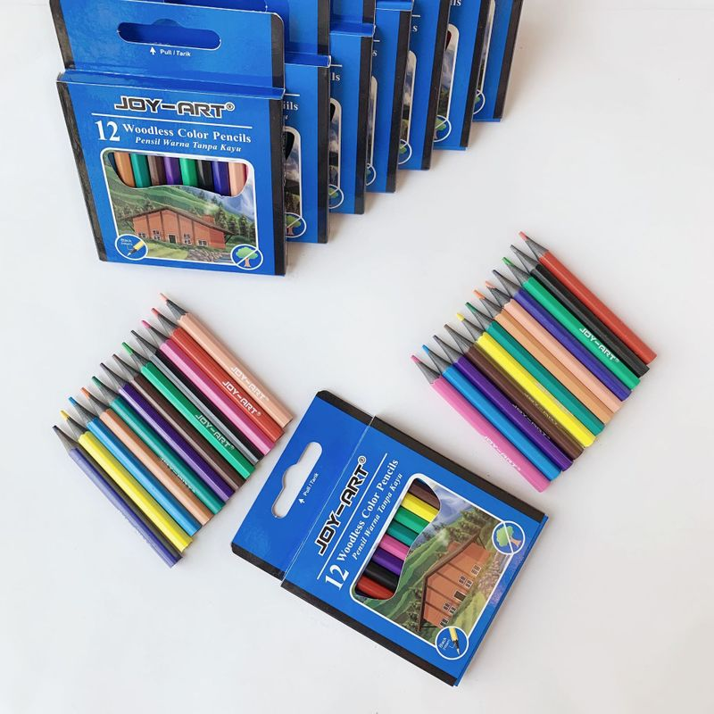 JOY-ART Woodless Colored Pencils (12 Pieces/Set)