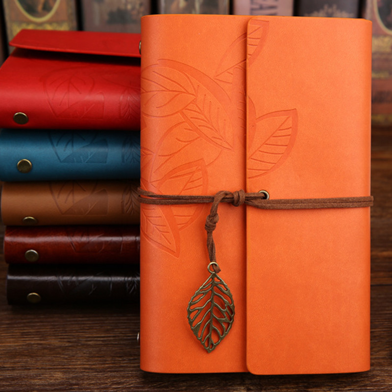 Leaves Leather Notebook