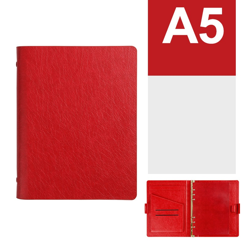 Ara Faux Leather Ring Binder Notebook