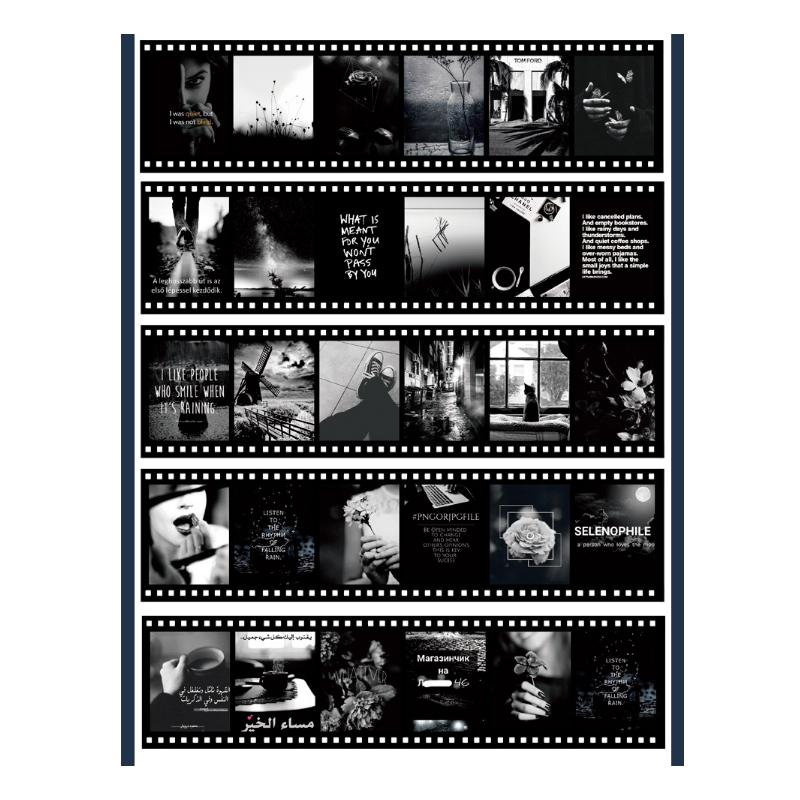 Vintage Film Style Sticker Sheets