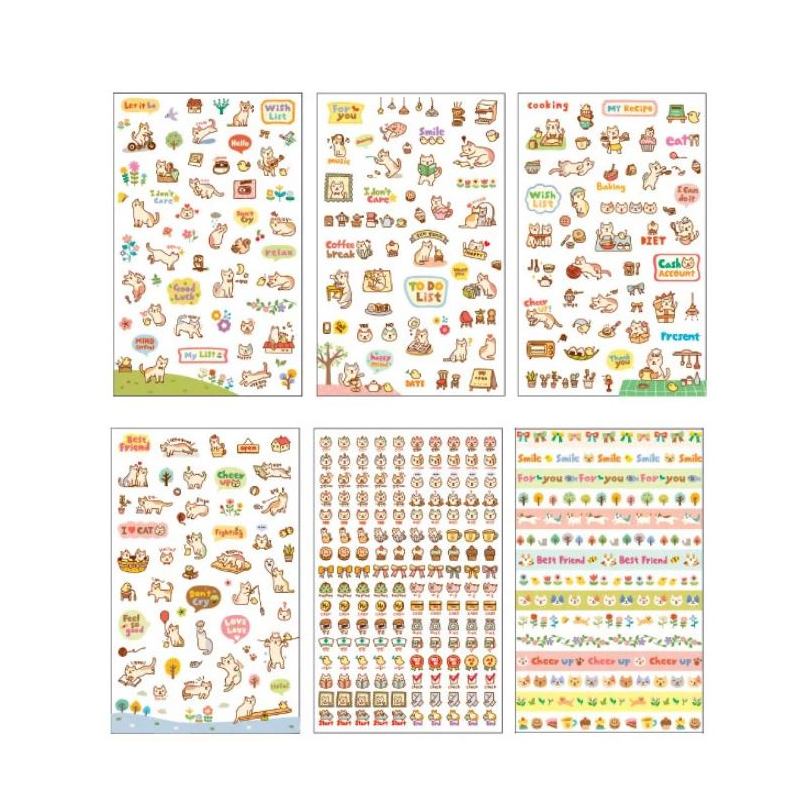 Pets are Playing Transparent Sticker Pack