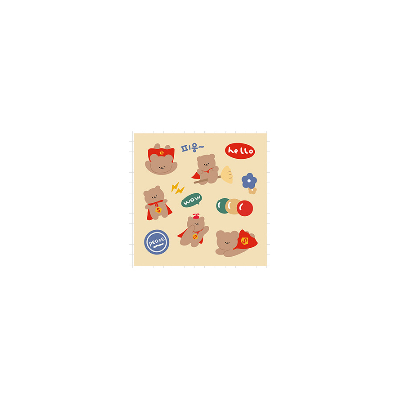 Cute Bear Diary Sticker Collection