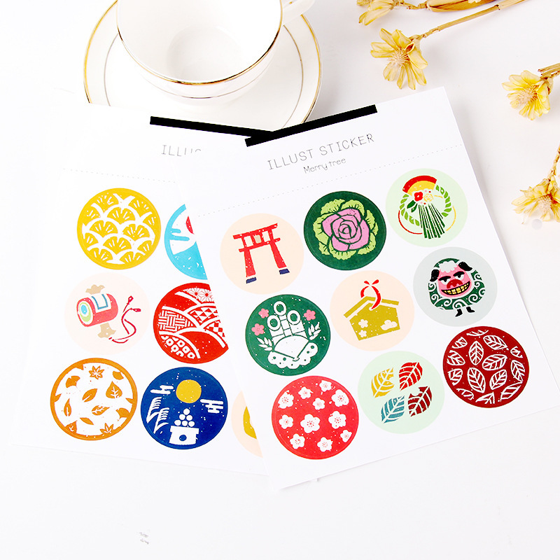 Themed Circular Sticker Sheets