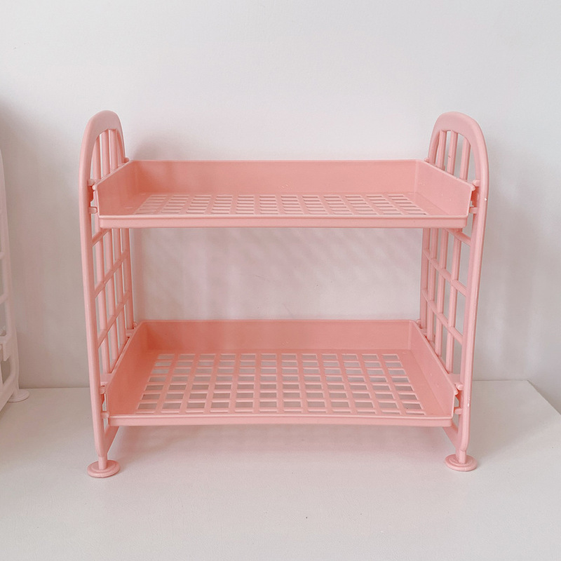 Double-Layer Candy Colored Storage Rack