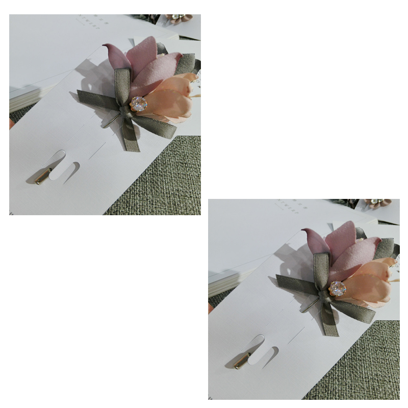 Long Needle Faye Fabric Floral Corsage