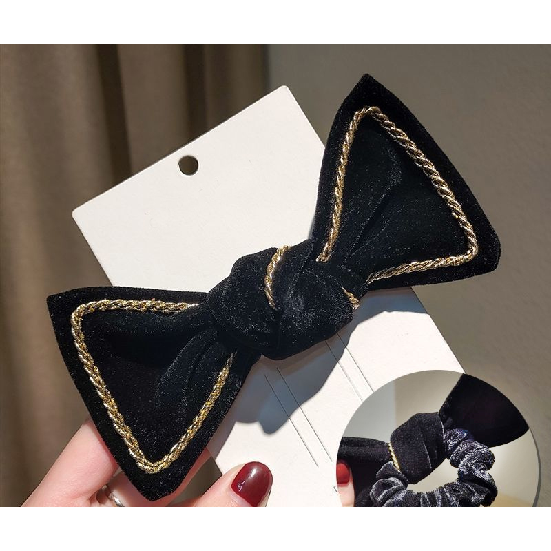 Big Rope Adorned Bow Hair Tie