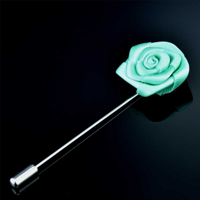 Long Needle Fabric Rose Corsage