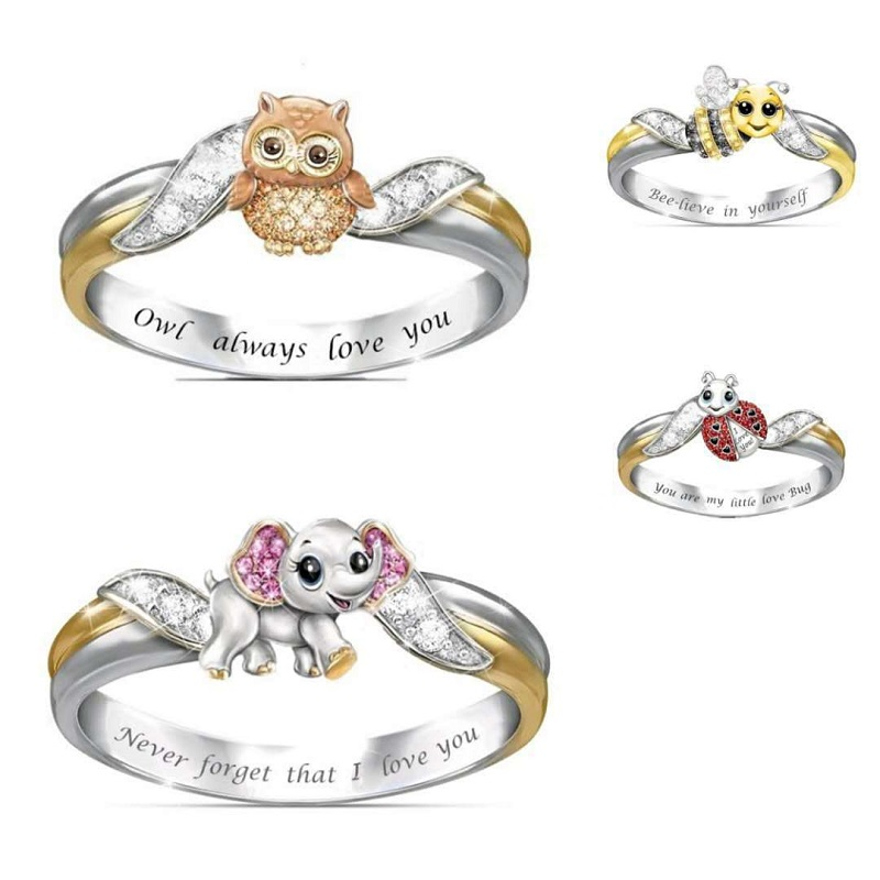 How Much I Love You Animal Ring Collection