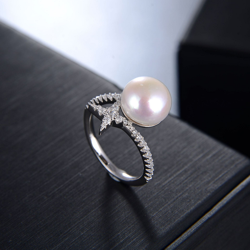 Starry Pearl Silver Ring