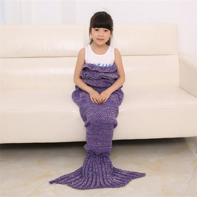 Knitted Mermaid Children's Blanket