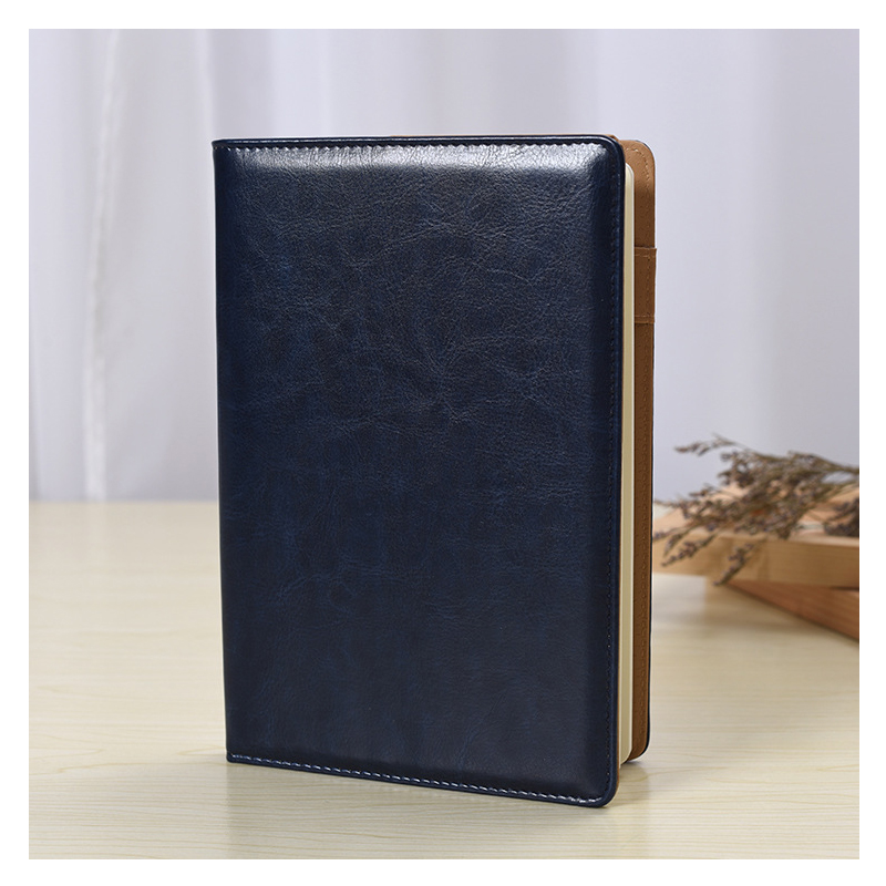 Pen Insertion Faux Leather Notebook