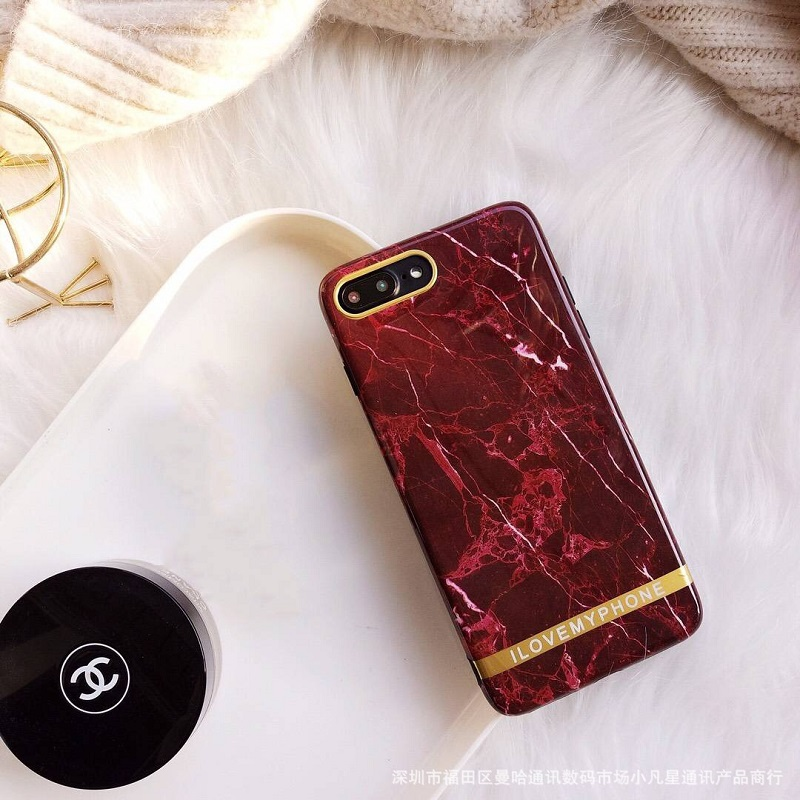 Fiery Red Marble Mobile Case for iPhone