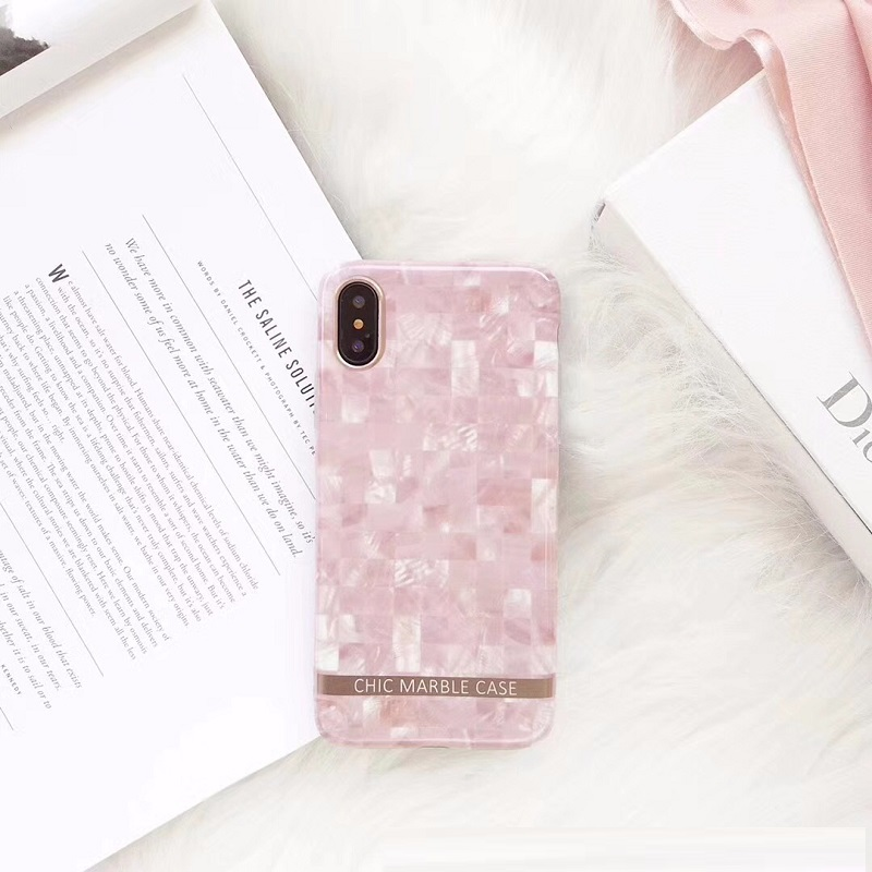 Girly Pink Marble Mobile Case for iPhone