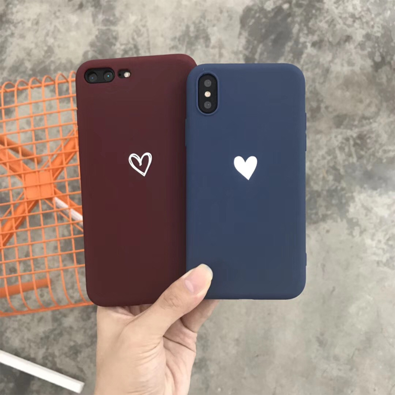 Little Heart Minimalist Mobile Case for iPhone