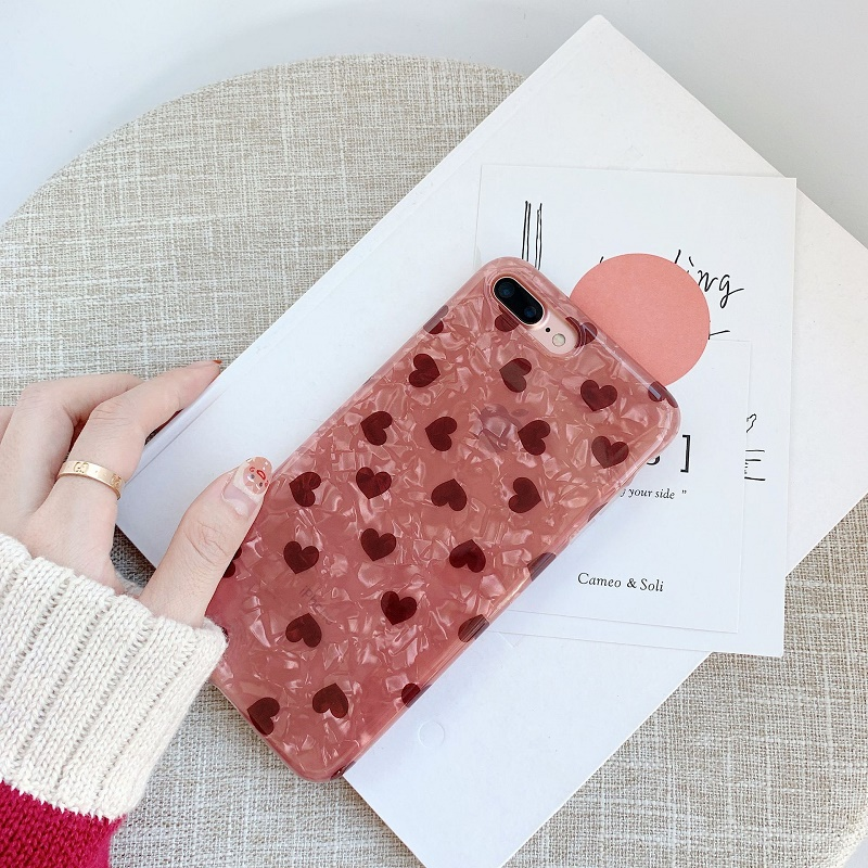 Red Hearts Mobile Case for iPhone