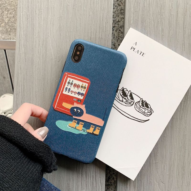Cats and Dogs Loving Foods iPhone Case