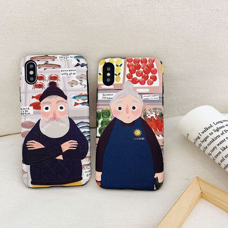 Grandparents Painted Mobile Case for iPhone