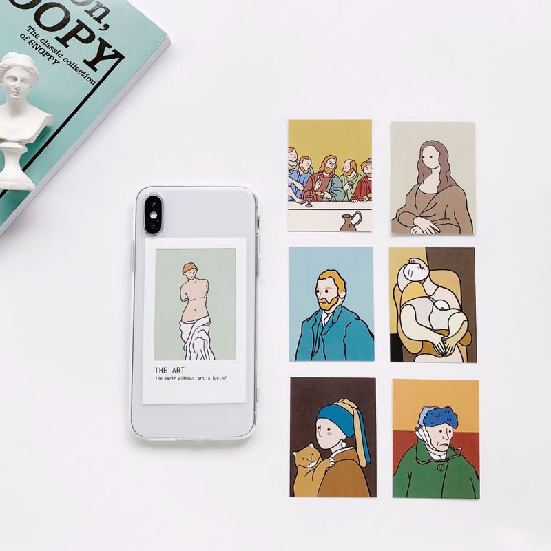 Clear Framing Silicone Phone Case with Switchable Art Prints