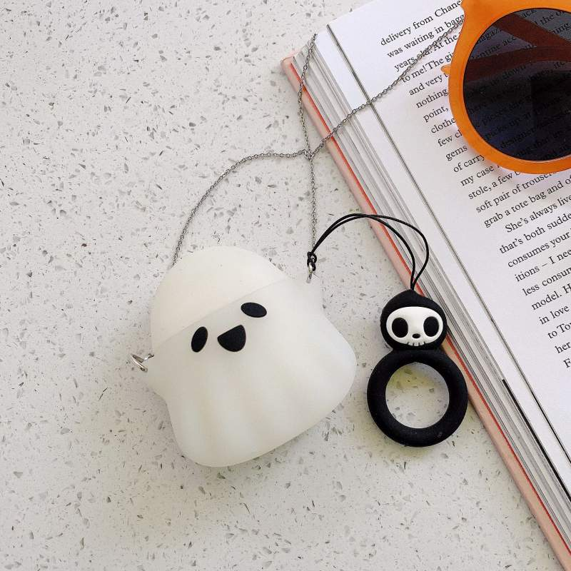 Black and White Ghosts Airpods Case