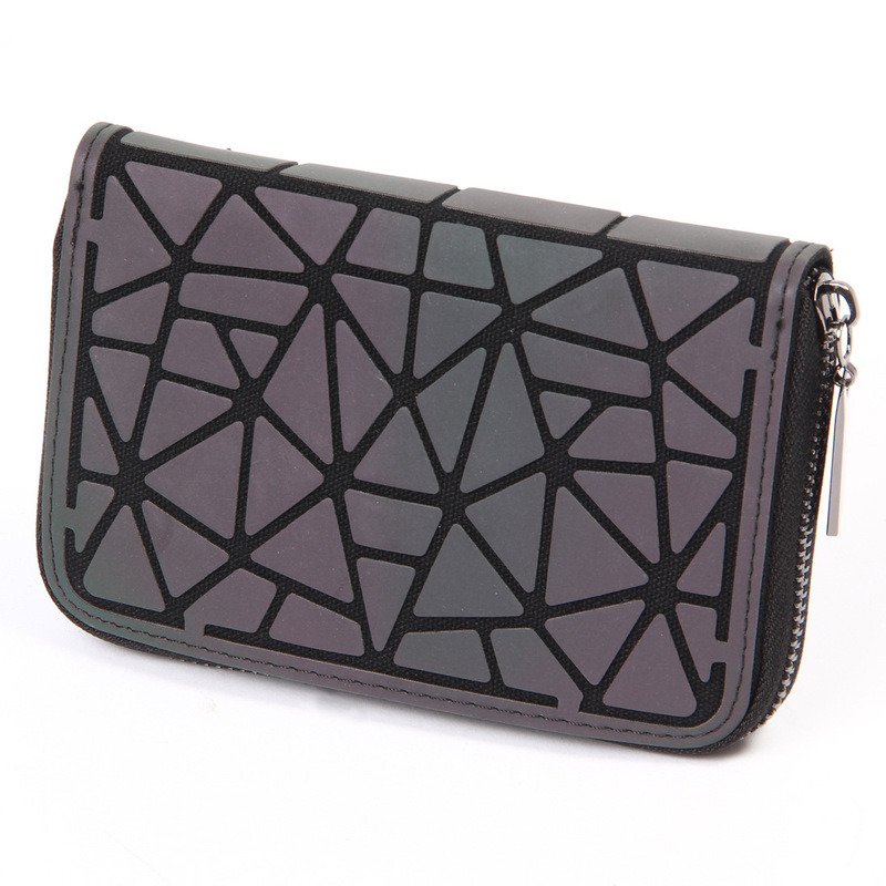 Abstract Triangles Grayscale Wallet