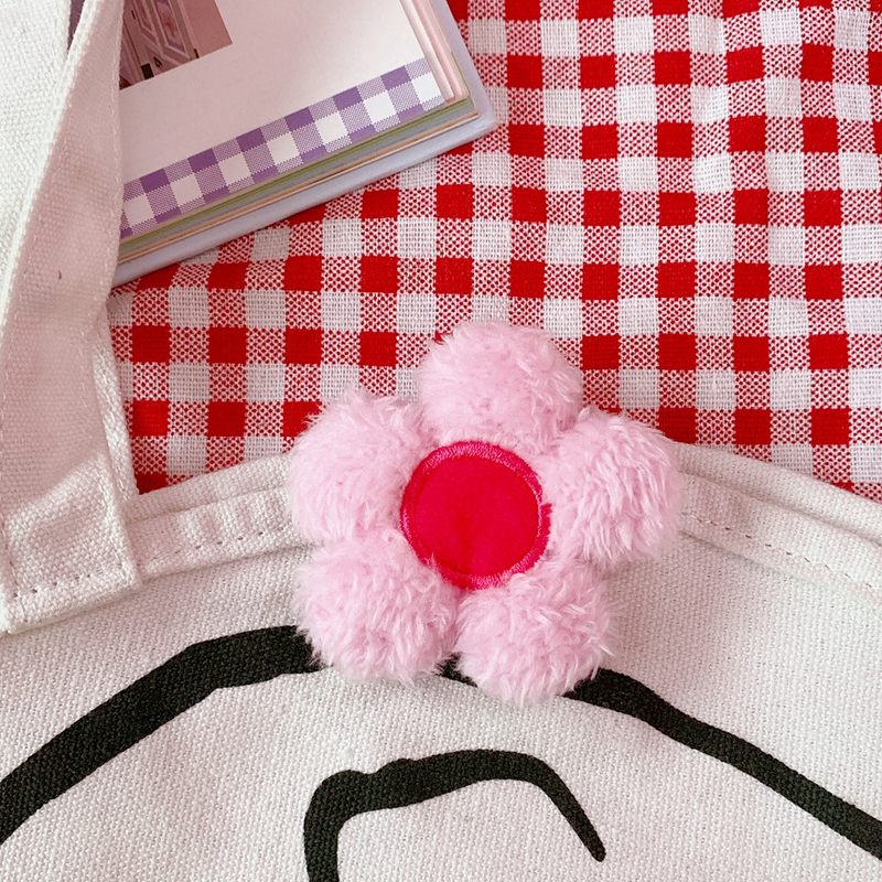 Plush Flowers and Rabbit Pins