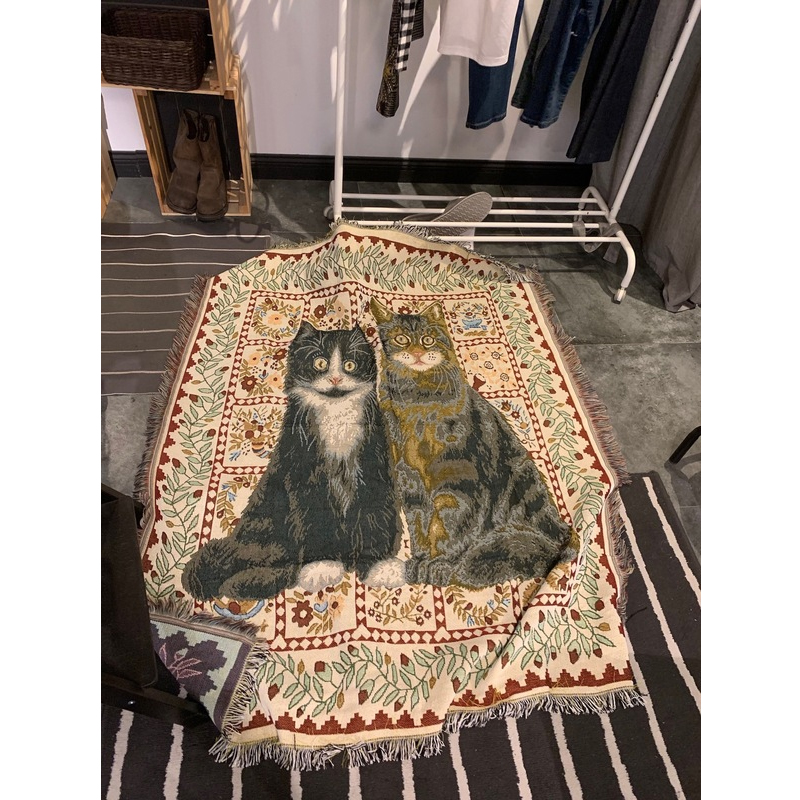Purrfect Royal Couple Tapestry
