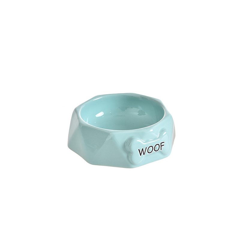 WOOF Ceramic Food Bowl for Dogs