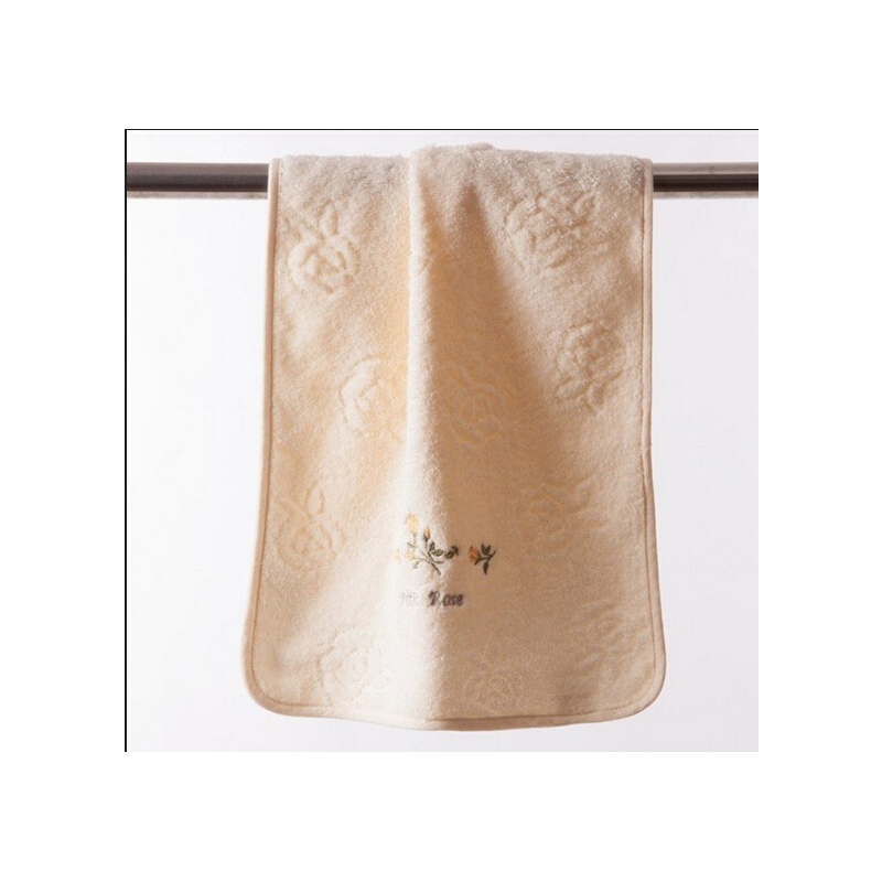 Rose Embroidered and Embossed Face Towel