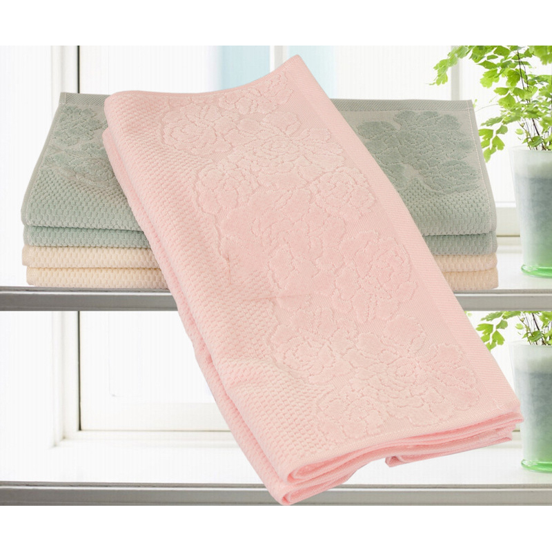 Carnation Embossed Cotton Face Towel