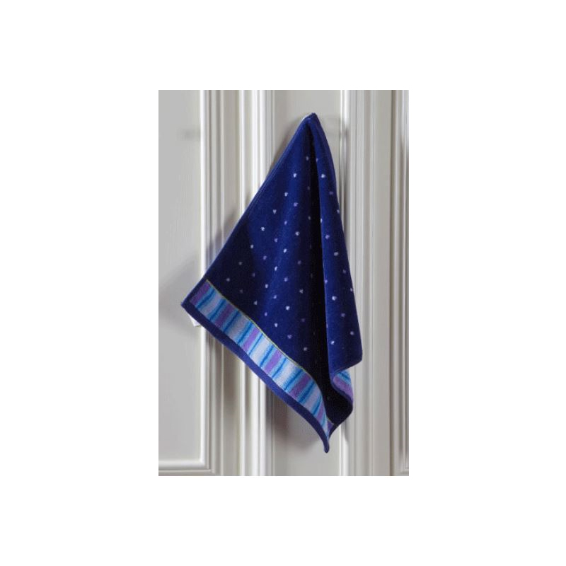 Dots and Stripes Square Face Towel
