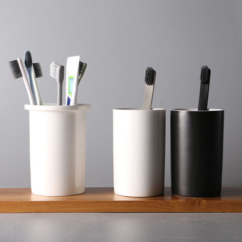 Modern Mouthwash Cup and Holder