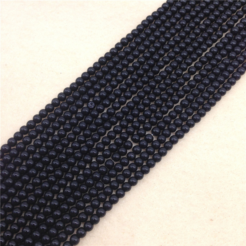 Faux Obsidian Loose Beads