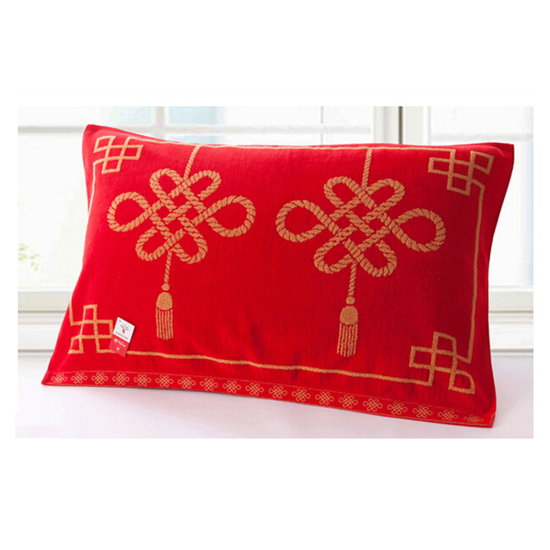 Lucky Knot Red Pillow Towel
