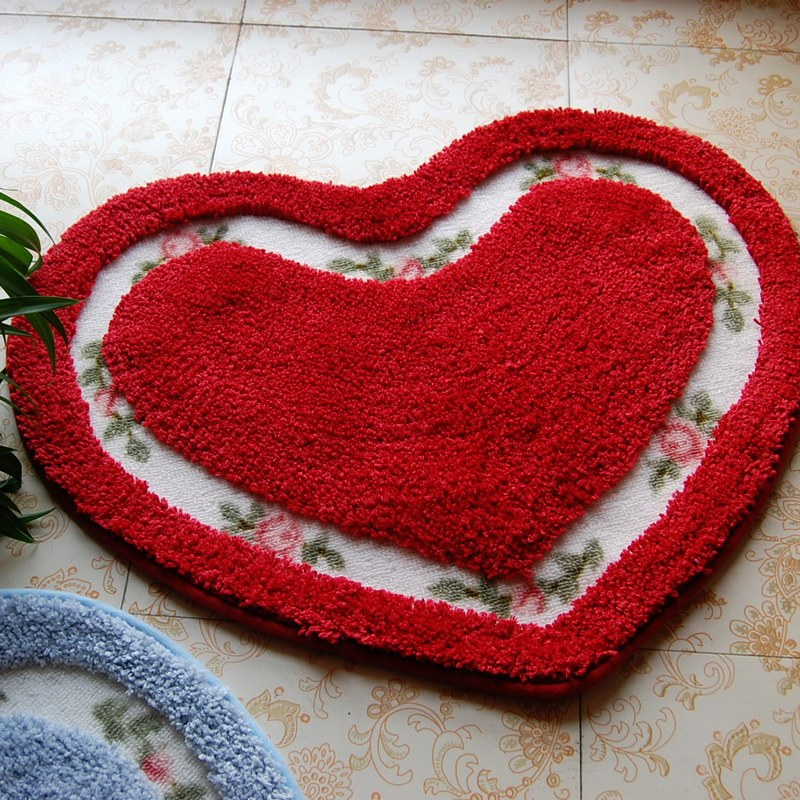 Floral Heart Door Mat