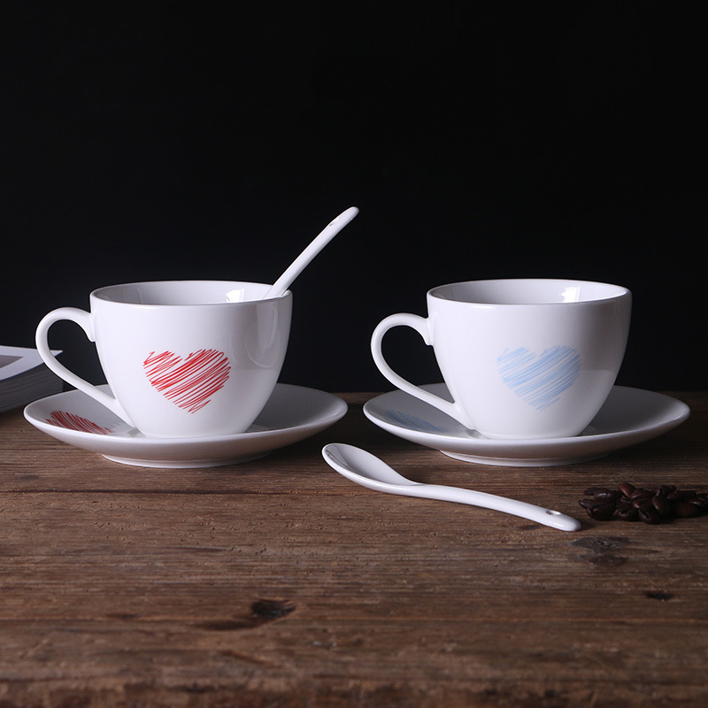 Heart Doodle Coffee Set