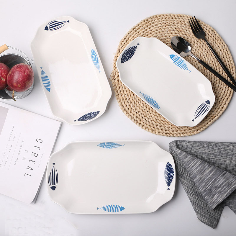 Blue Fishes Food Tray