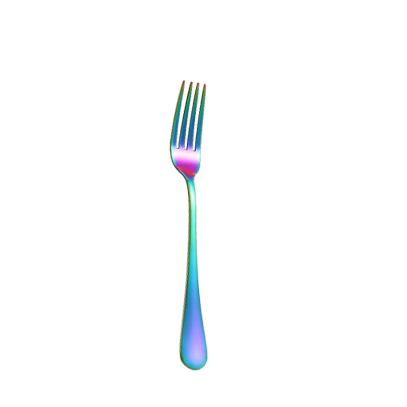 Rainbow Chrome Cutlery