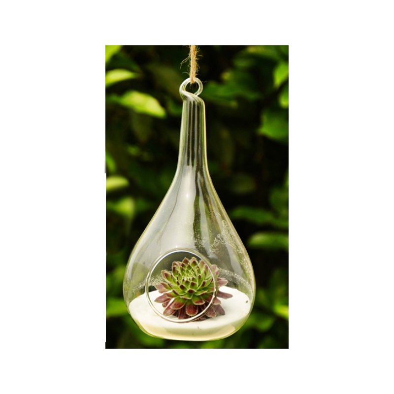 Hanging Glass Bauble and Cone