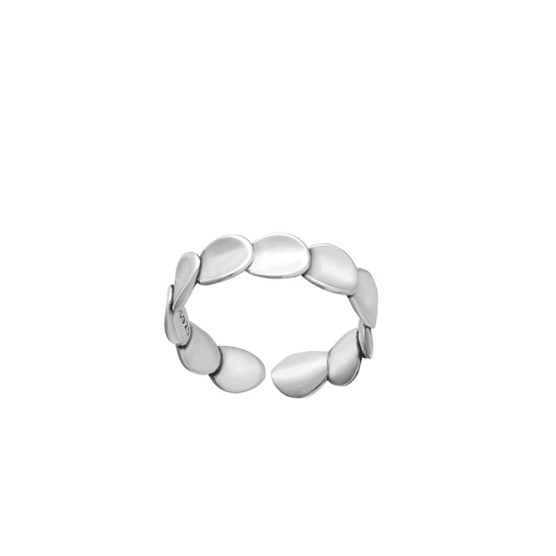 Sterling Silver Circles Open Ring