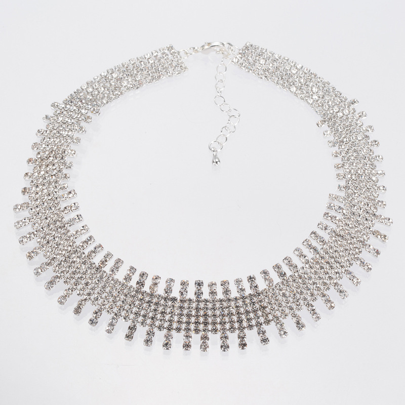 Kendrina Exaggerated Crystal Bars Necklace