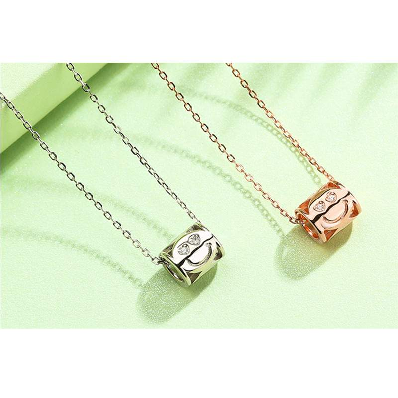 Smiley Face Tube Necklace