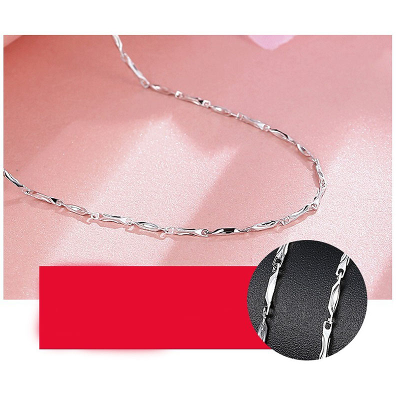 Sterling Silver Women's Chain Necklace Collection