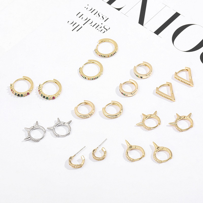 Hollow Shapes Huggie Earrings Collection