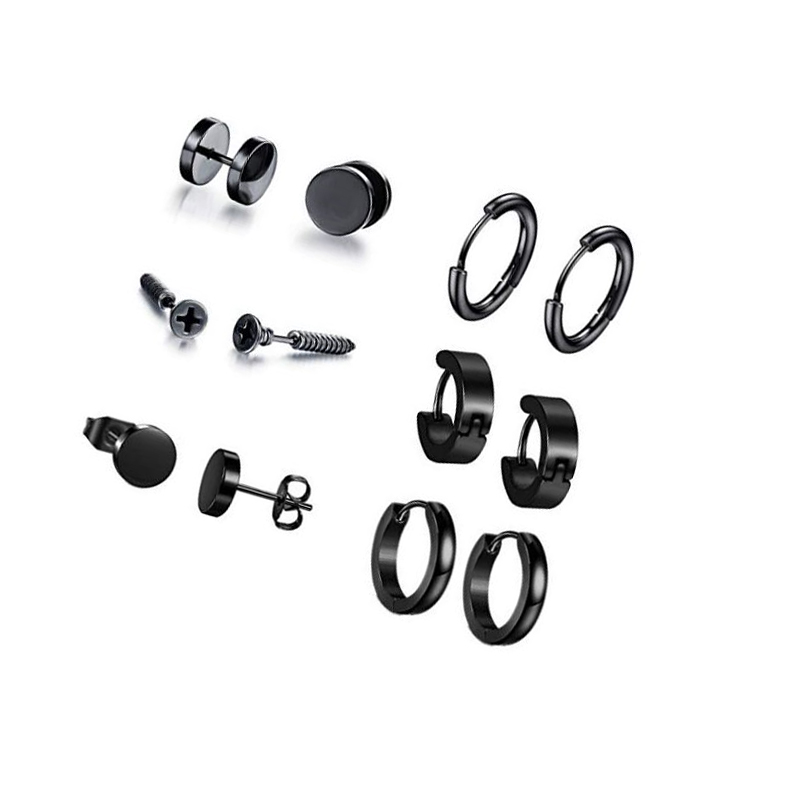 Sev Black Earring Set (6 Pairs/Set) for Must-Have Accessories